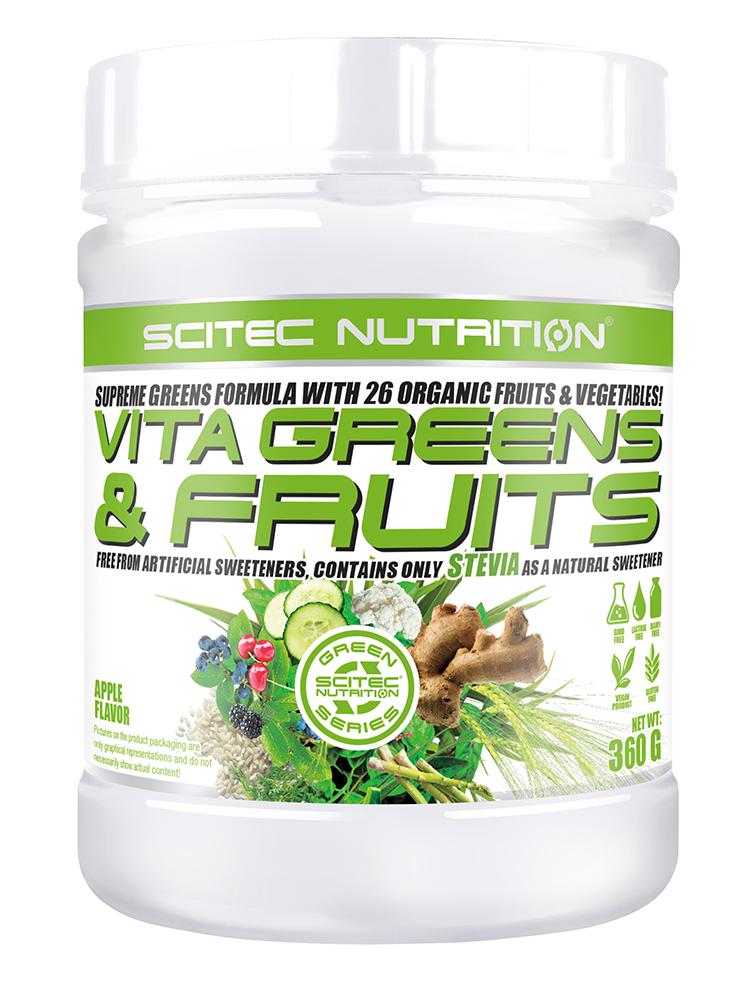 Scitec Nutrition Vita Greens & Fruits Stevia-val 360 gr.