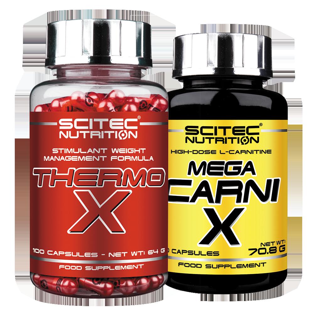 Scitec Nutrition Thermo-X + Mega Carni-X szett