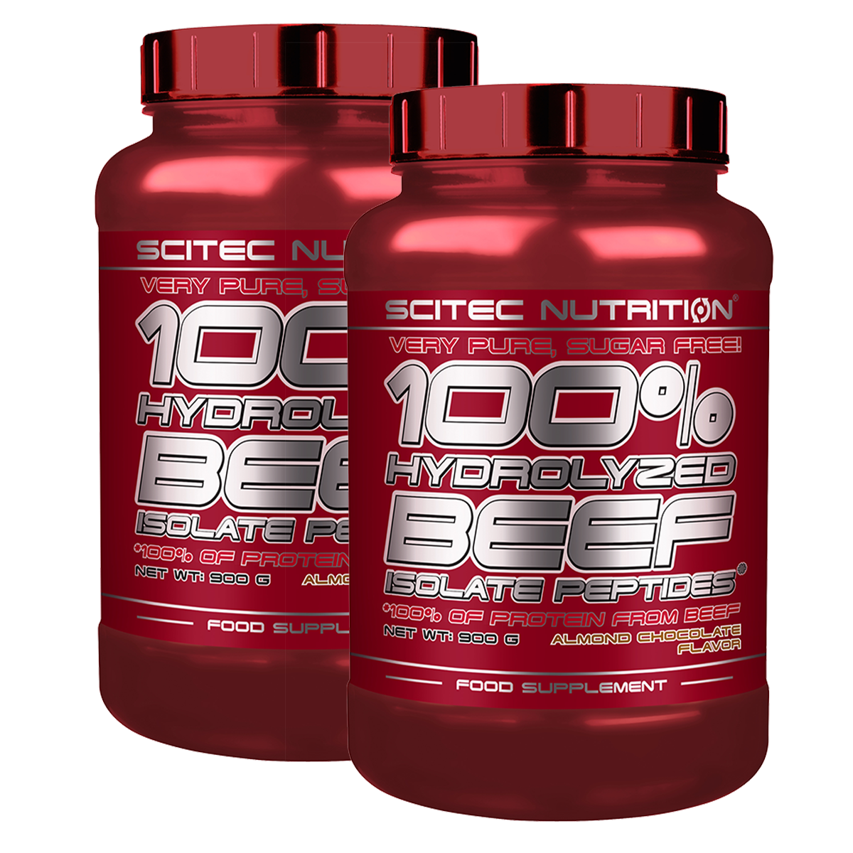 Scitec Nutrition 100% Hydrolyzed Beef Isolate Peptides (2x0,9 kg) szett